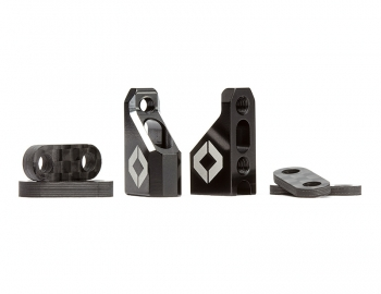 Aluminum Servo Mount Set w/ Spacers | 4-40